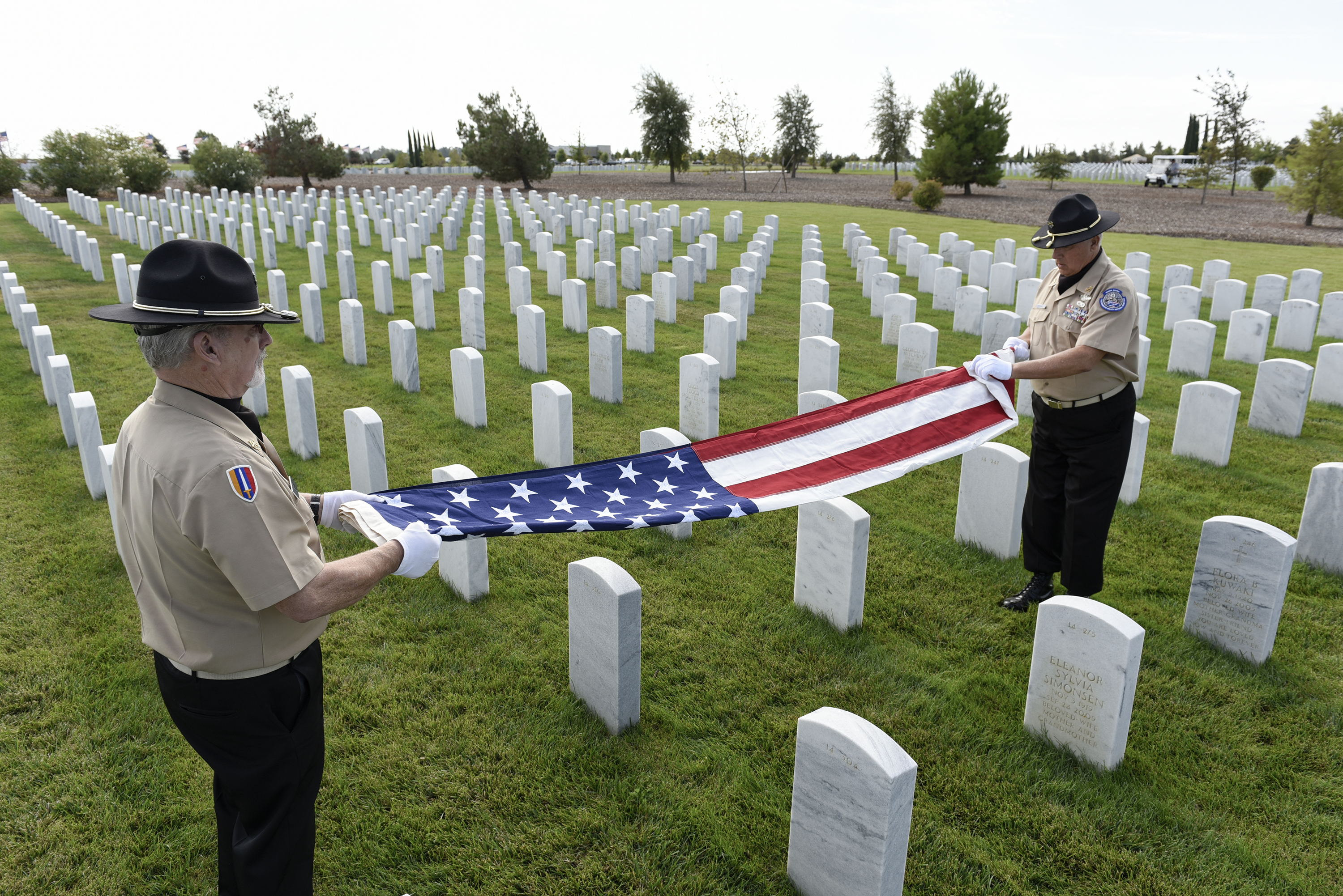 Flag Folding - Military Funeral Honors